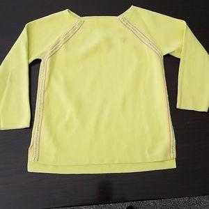 Crewcuts lime shirt w/silver,lime ,pink stripe